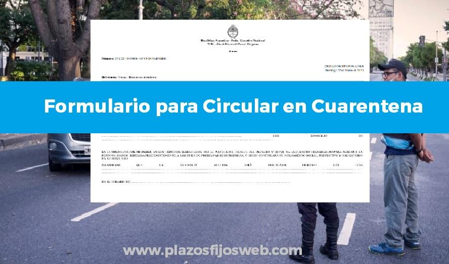 formulario circular cuarentena salvoconducto