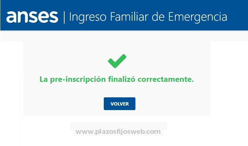 formulario ife preinscripcion correcta