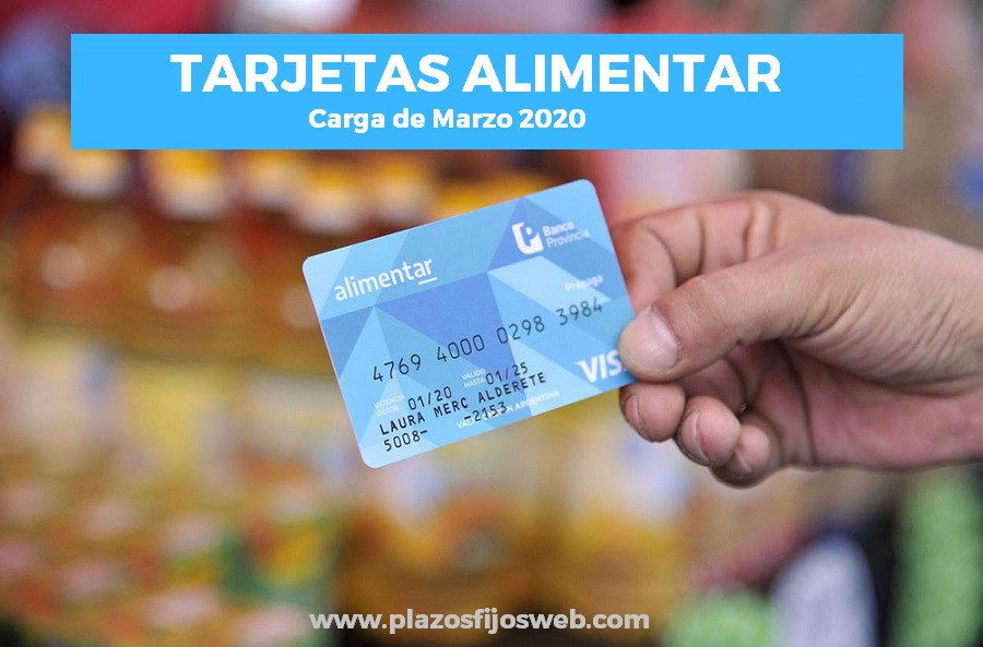tarjeta alimentaria carga marzo