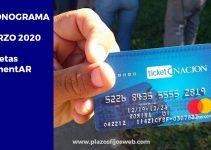 tarjetas alimentarias cronograma marzo 2020