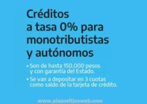 creditos tasa cero monotributistas