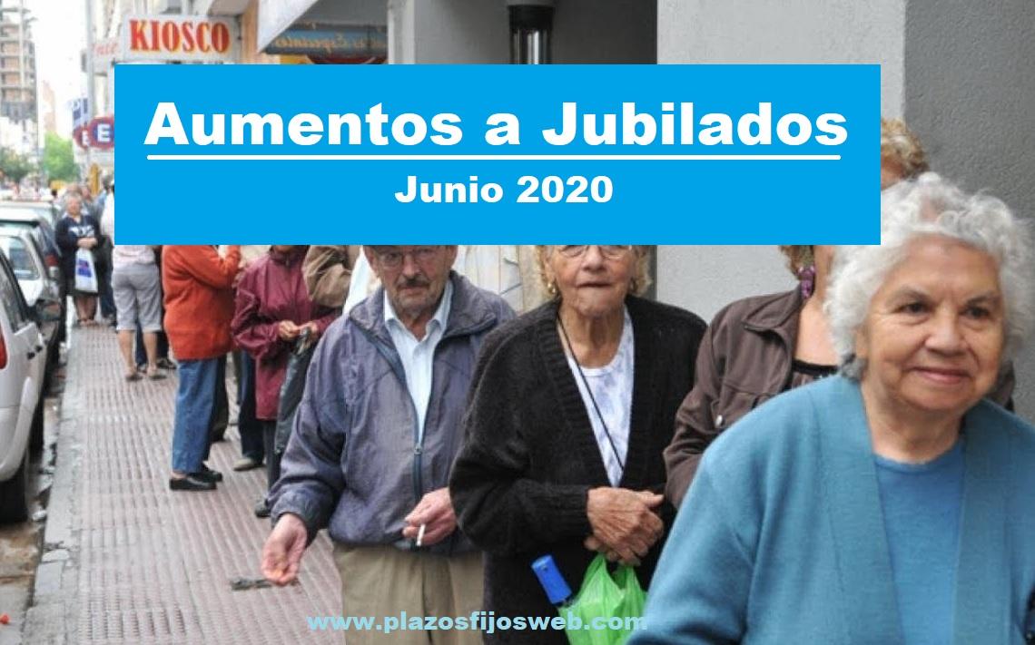 aumento jubilados junio 2020
