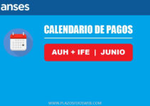 calendario pagos auh ife junio 2020