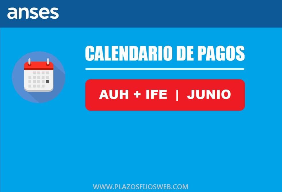 calendario pagos auh ife junio 2020