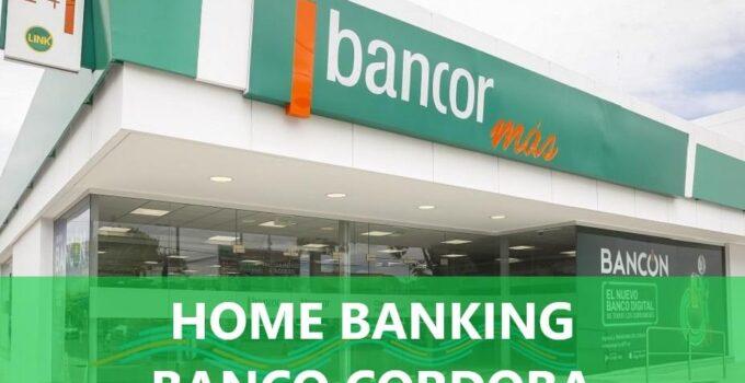Home banking banco cordoba bancor
