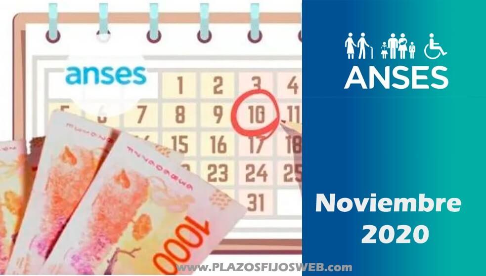 anses calendario noviembre 2020