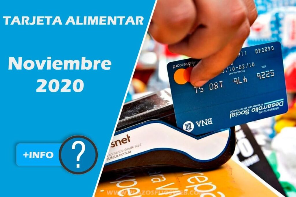 tarjeta alimentar noviembre 2020