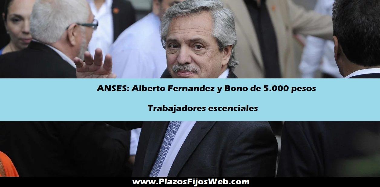 Alberto Fernández anuncia Bono de 5.000 pesos