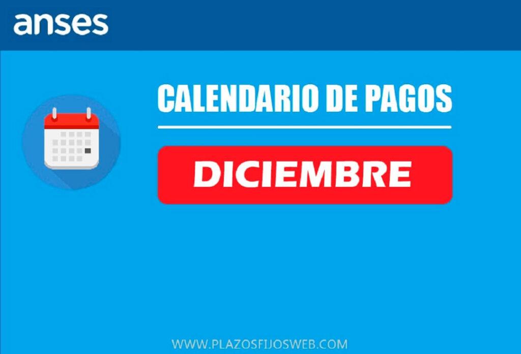 calendario diciembre 2020 anses