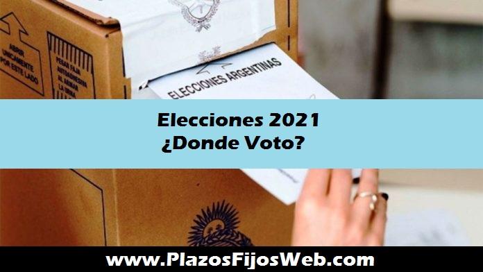 elecciones 2021 en que mesa voto