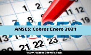 Fechas de Cobros ANSES enero 2021