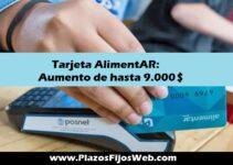 Tarjeta AlimentAR aumento de $9.000
