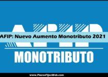 nuevo aumento en el monotributo afip 2021