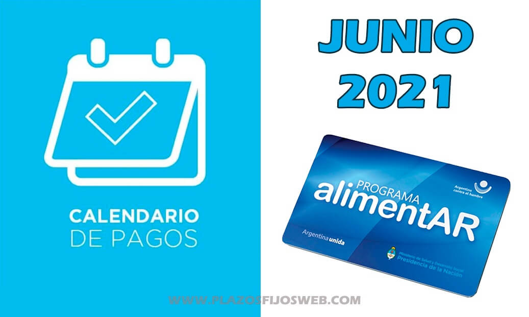 tarjeta alimentar junio 2021