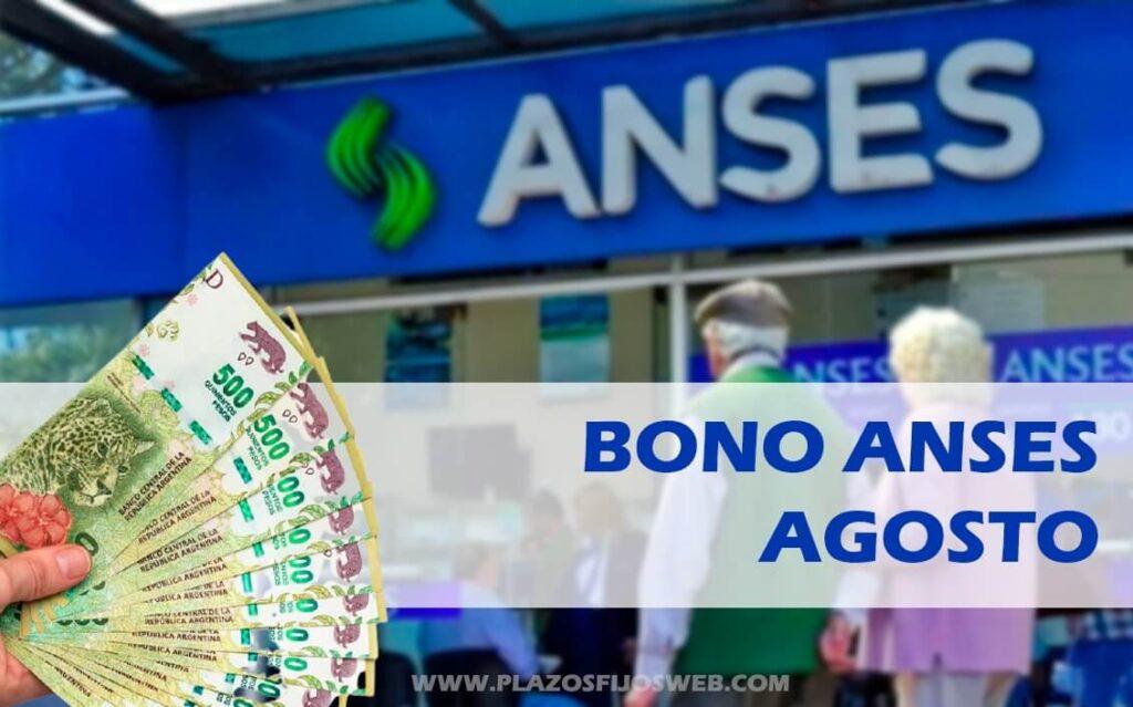 bono anses jubilados agosto 2021